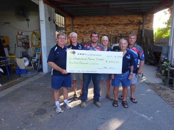 Great generosity from the AMWU workers on Curtis Island