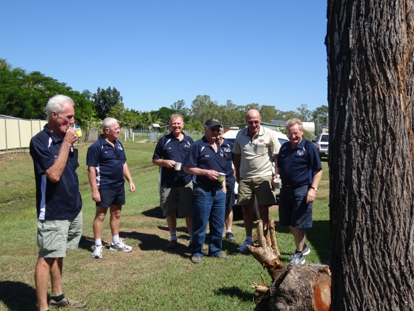 Beyond the back stump at Gracemere