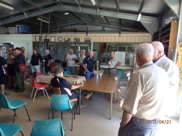 Our thanks to the Gracemere shed for morning tea