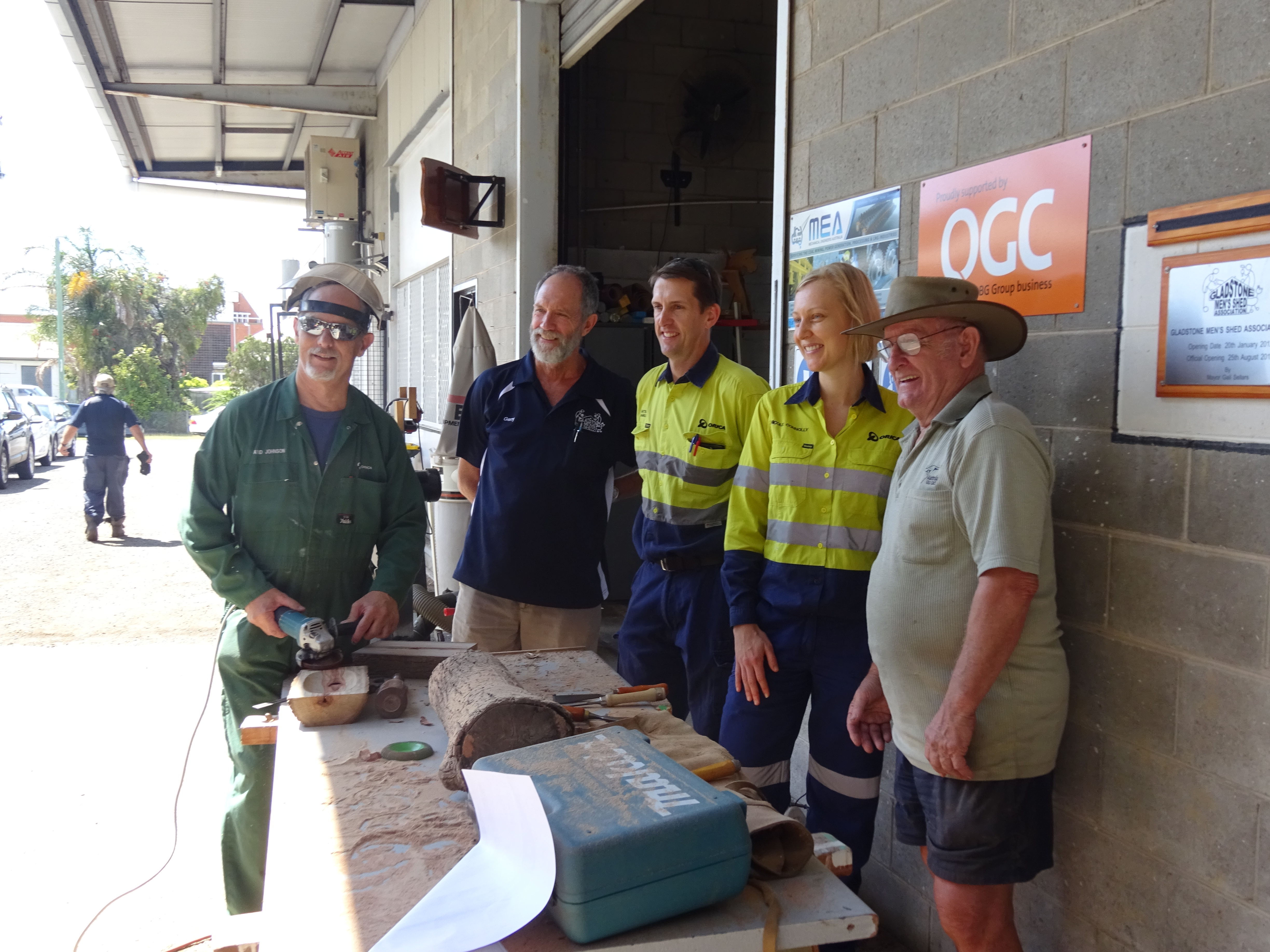 The current catches up with the past, Orica meets ex-employees at the Shed