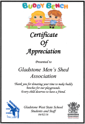 Gladstone West Certificate